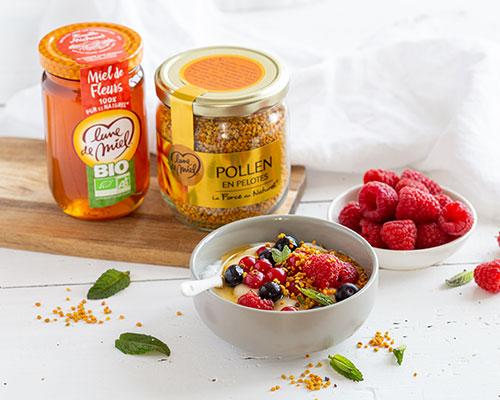 yaourt miel et pollen