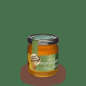 miel et propolis verte pot en verre 250g