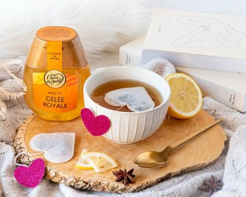 Thé au citron au Miel & Gelée Royale Lune de Miel®